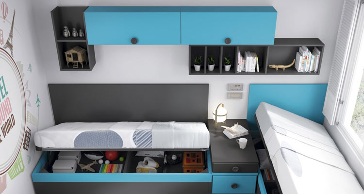 Dormitorios juveniles for Muebles de dormitorio infantil