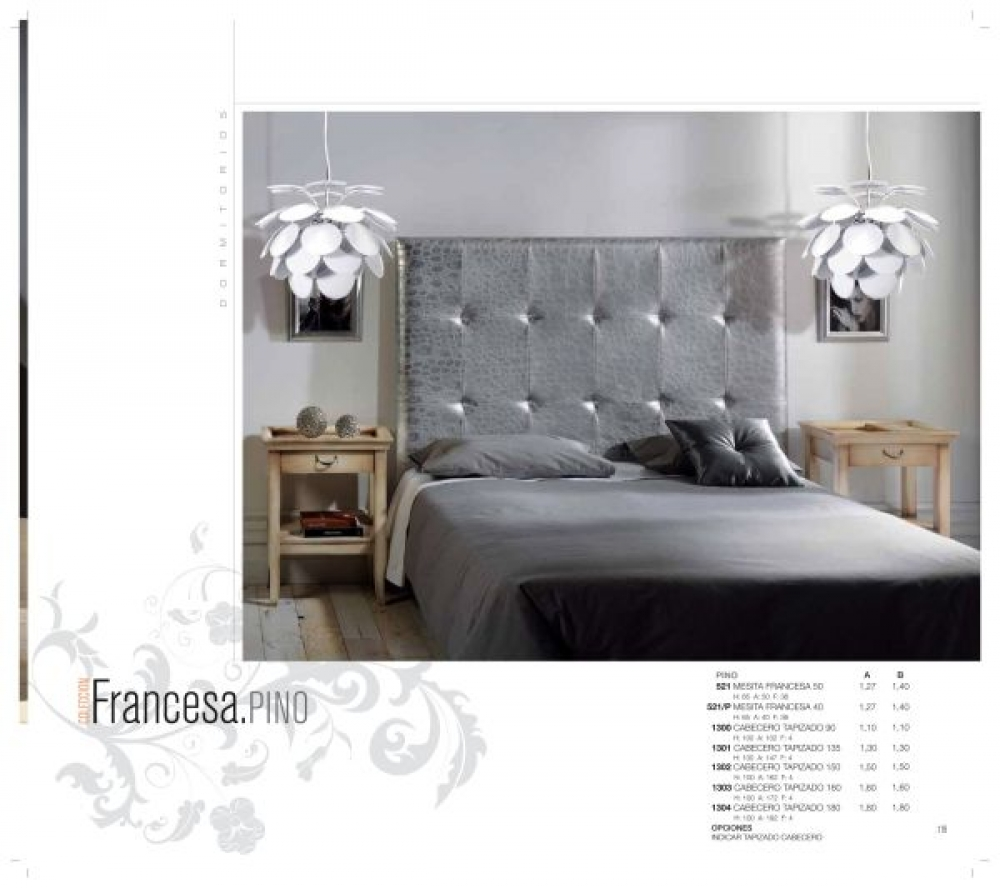 Cama cabecero capitone dormitorios camas europolis - Cabecero capitone blanco ...