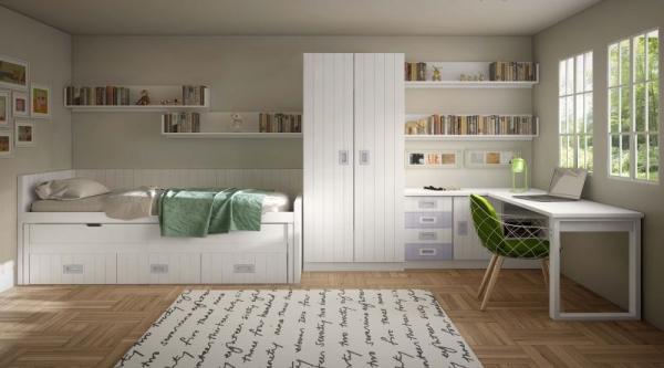 Londres 2 dormitorios juveniles europolis for Muebles juveniles europolis