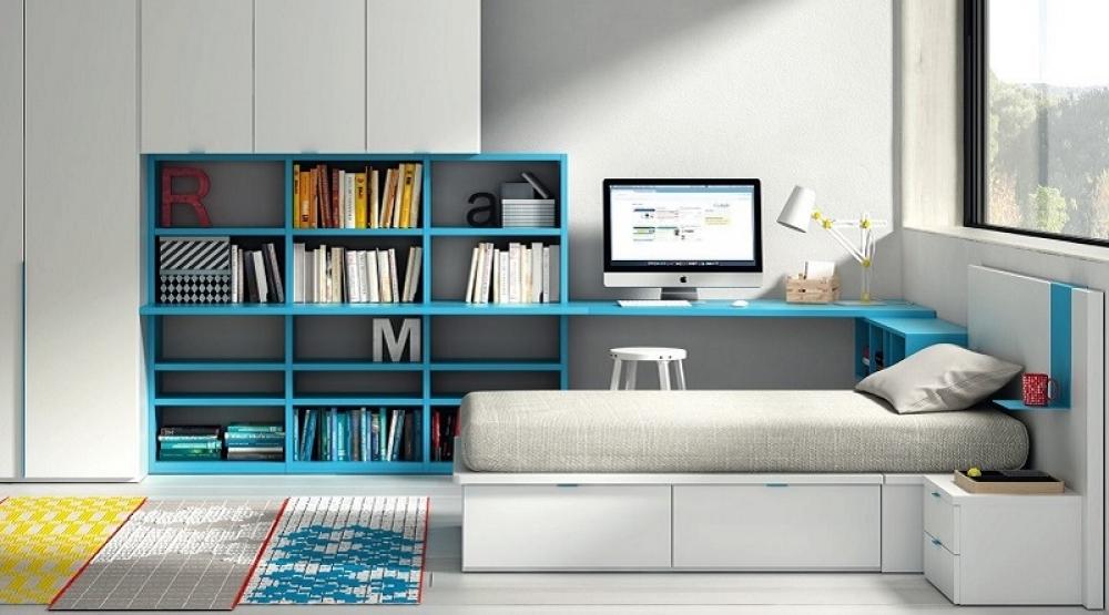 Mueble juvenil camas y colchones dormitorios juveniles - Mueble juvenil europolis ...