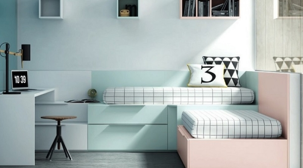Mueble juvenil camas y colchones dormitorios juveniles for Muebles juveniles europolis