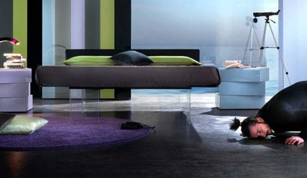 Cama air l nea actual dormitorios camas europolis for Linea actual muebles europolis